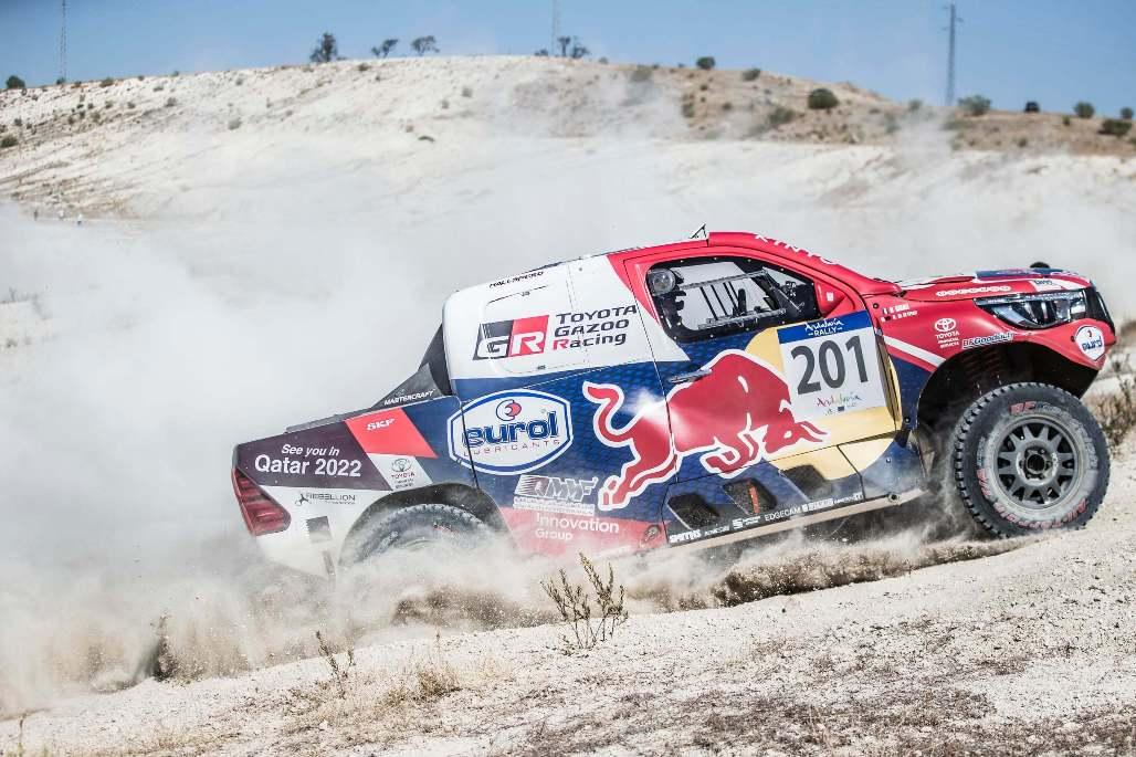 Nasser Saleh Al-Attiyah in Andalucia action. Pic Red Bull