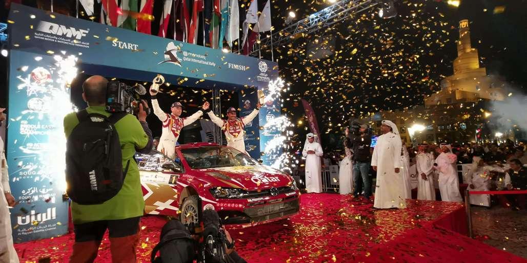 Qatar Rally podium 2019