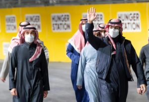 arrival to the race track, the Crown Prince was received by Minister of Sports Prince Abdulaziz Bin Turki Al-Faisal