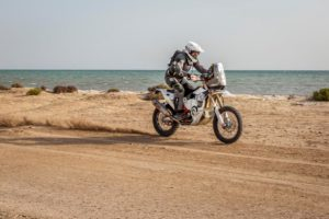 Philip Wilson won the motorcycle category on his KTM.